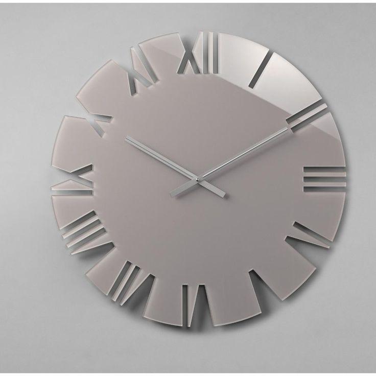 Orologio da parete movimento al quarzo ROMA Small Ø42x2,5 in plexigas bicolore Bianco | Vesta s.r.l. | Stilcasa.Net: orologi da parete