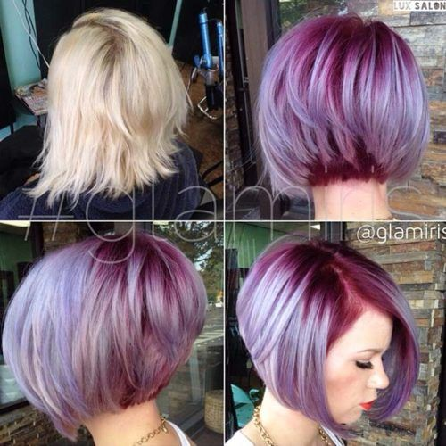 Super Textured A-Line Bob. A short trendy Bob hairstyle with a great colour. An easy hairstyle for girls that looks great
