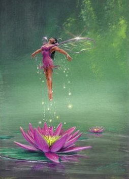 "birth of a water lilly fairy  ✮✮""Feel free to share on Pinterest"" ♥ღ www.fairytales4kids.com"