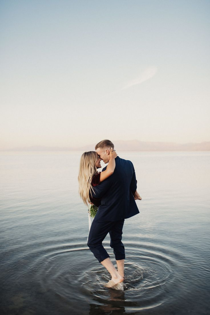 Eden Strader Photography, Antelope Island Engagements, engagements on the water, engagement pose ideas, Utah wedding photographer, unique engagement photos, editorial engagement photos