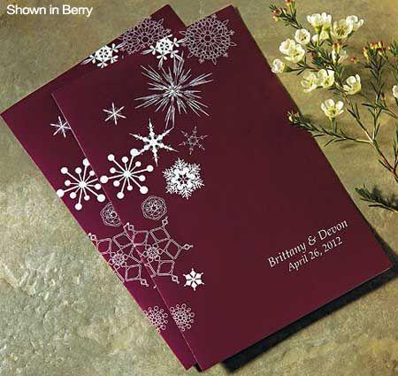 Winter Finery Wedding Bulletin
