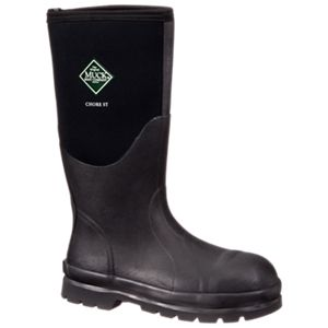 The Original Muck Boot Company Chore Boot All Conditions Steel Toe Work Boots for Men - Black - 12M