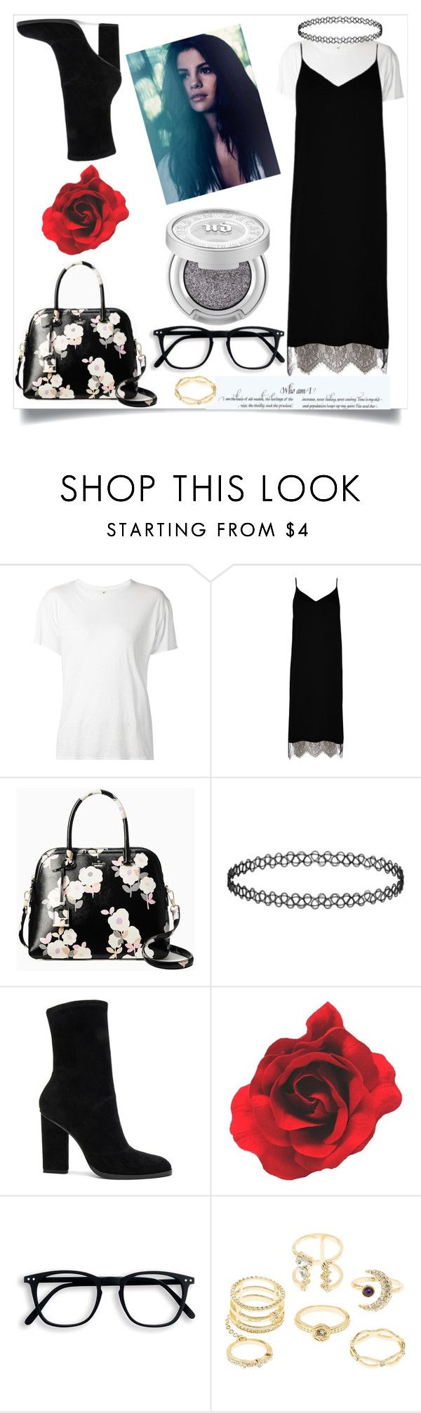 """""""Untitled #227"""" by voicu-ana ❤ liked on Polyvore featuring R13, River Island, Kate Spade, Alexander Wang and Charlotte Russe"""