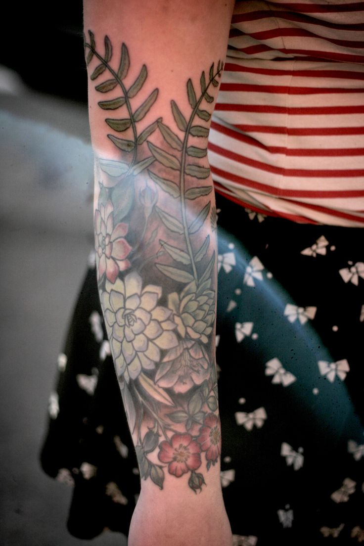 Alice Carrier | succulents forearm #tattoo
