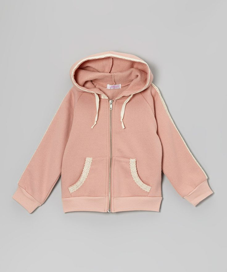 Take a look at this Blush Crochet Zip-Up Hoodie - Infant, Toddler & Girls on zulily today!