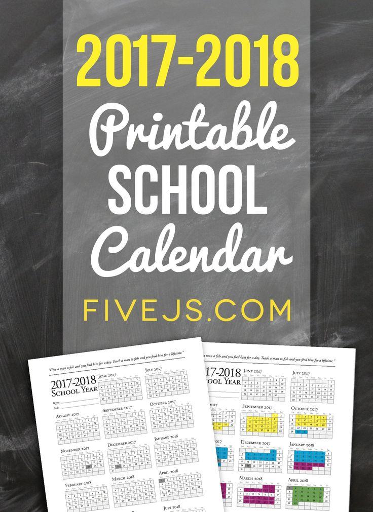 Best 25+ School calendar 2017 2018 ideas on Pinterest