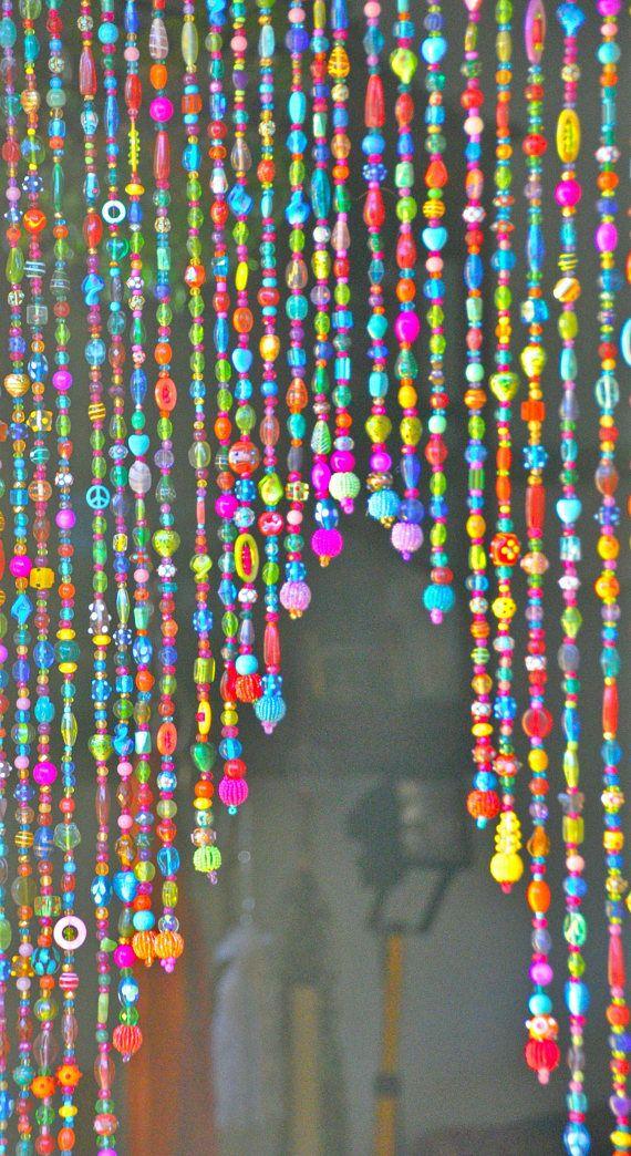 Beaded Curtain Arched Shape Hanging Beads Bohemian Curtain Boho