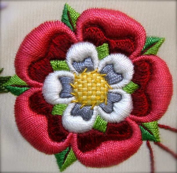 Tudor Rose It's perfect, look at these stitches.
