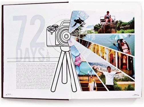 love this idea idk about the camera part but i adore the expanding from a yearbook spreads layoutyearbook - Yearbook Design Ideas