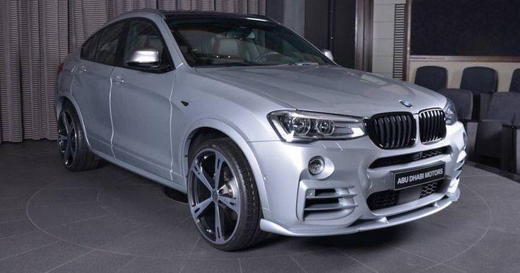 Glacier Silver BMW X4 M40i Rocks Hamann & M Performance Bits #AC_Schnitzer #BMW