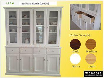 New White Buffet&Hutch(L1600)