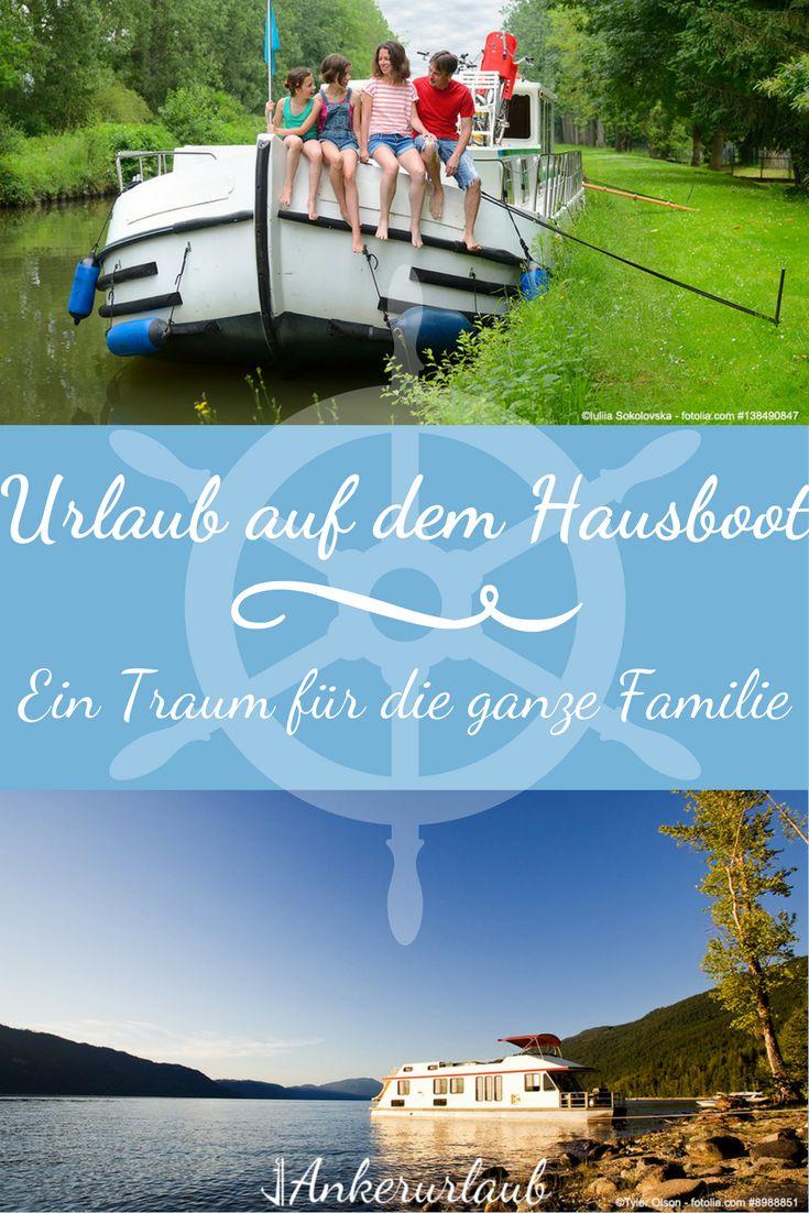 Urlaub auf dem Hausboot - ein Traum für die ganze Familie. Einfach raus aus dem #Alltag und rein in die schönste Zeit des Jahres. Warum nicht mal ein #Hausboot mieten und damit Ferien auf dem Wasser verbringen? Mit #Ankerurlaub findest du dein #Traumboot. #Urlaub mal anders. Wie das geht erfährst du hier.