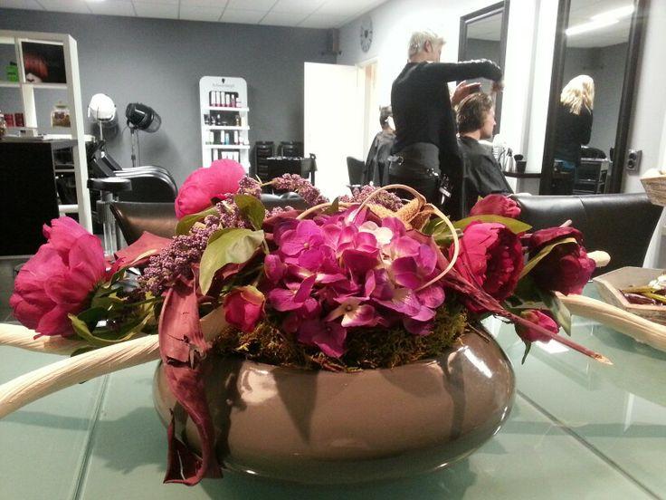 Zijde aankleding huur bij &bloemen