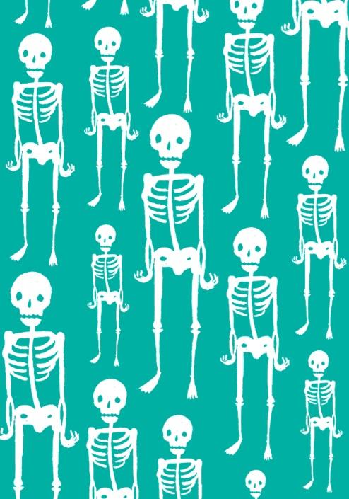 skeleton fabric pattern