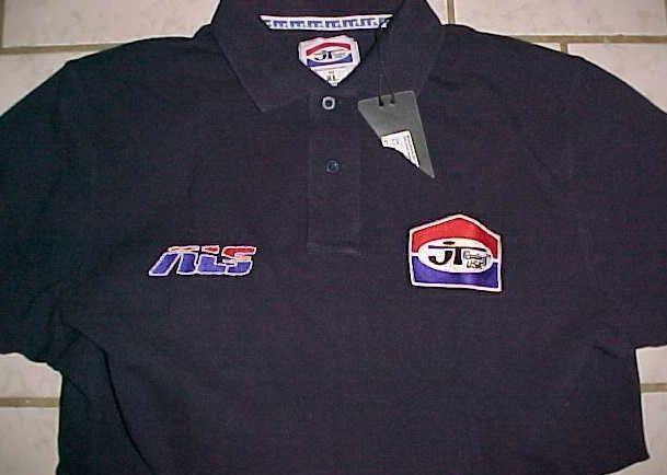 JT Racing USA Motocross Navy Blue Polo Shirt XL New NWT #JTRacingUSA #PoloRugby