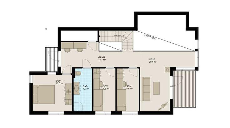 Planløsning 2. etasje.