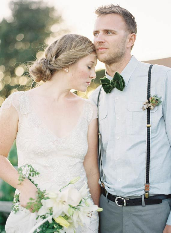 Velvety Green Wedding Inspiration Shoot from Jen Huang's Workshop