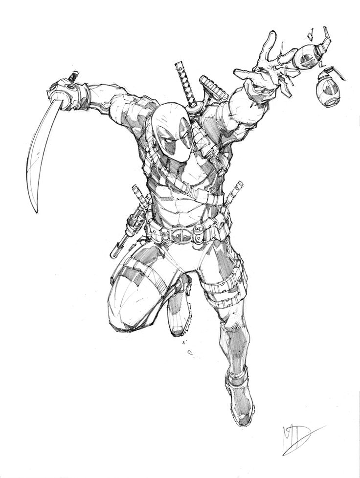 Marvel Deadpool Ausmalbilder Gratis: Deadpool By Max-Dunbar