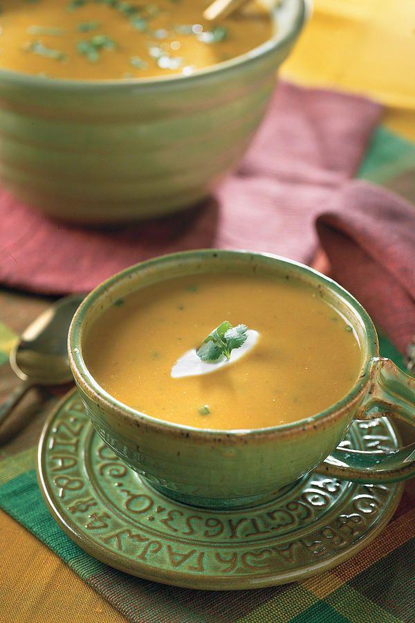 Creamy Southwestern Pumpkin Soup - Satisfying Soups