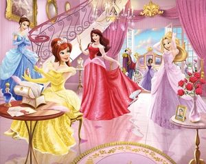 Fairy Princess Childrens Bedroom Wallpaper  Every girls would love this bedroom scene wallpaper  Come see the Fairy Princesses all dressed in there lovely gowns