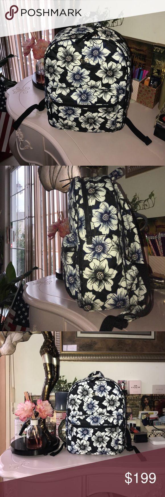 Kate Spade Black Floral Siggy Backpack $225 Kate Spade Siggy Black Floral Multi Colored Backpack -New $225 kate spade Bags Backpacks