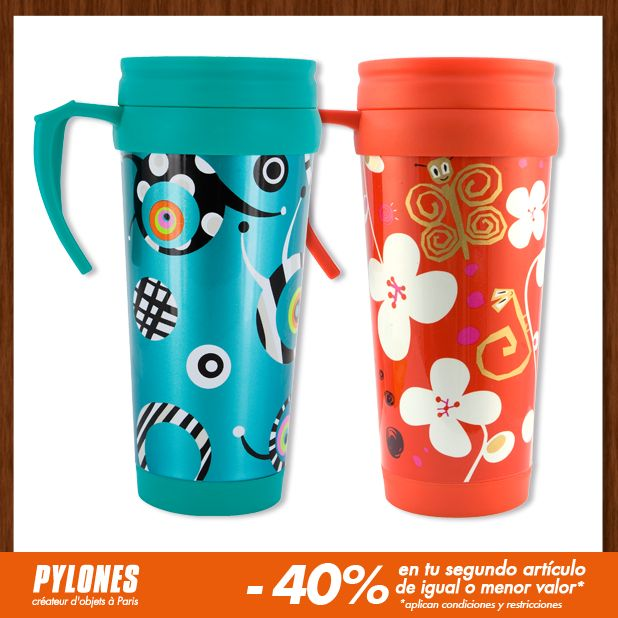 Mug Blue satellite and White flower. #SalePylones — en Colombia.