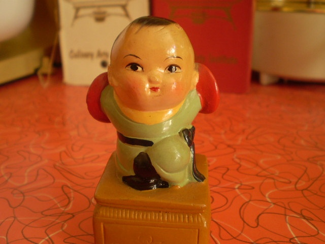 Vintage Chinese baby boy pencil sharpener 1960s