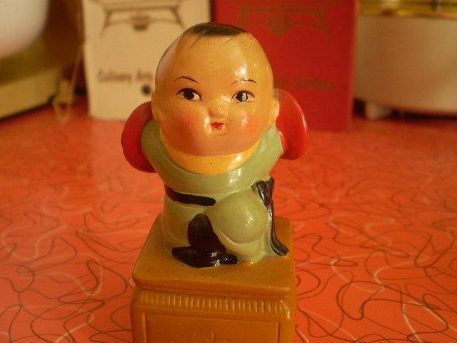 Vintage Chinese baby boy pencil sharpener 1960s