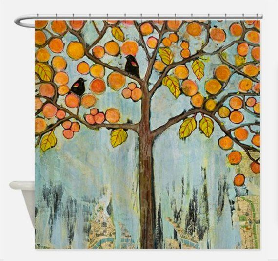 Tree Shower Curtain Tree Of Life Art Rustic Farmhouse Fabric