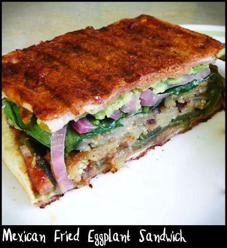 Mexican Fried Eggplant Sandwich (Vegan Tortas And Pambazos) Recipes ...
