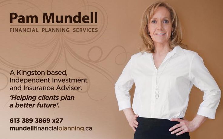 Pam Mundell - Financial planning in Kingston client who we've: - photographed portraits - created splash page - set up facebook page - built web ads - signed up for sponsorship for KRRA - tweaked & polished logo - bolstered brand w/ colour palette, font options