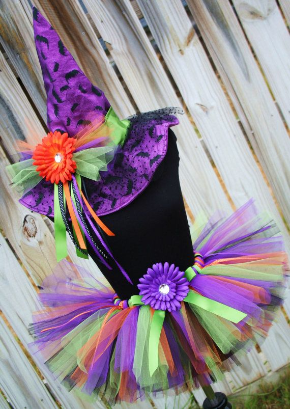 Wickedly cute witch tutu Halloween costume by arianasdressupcloset