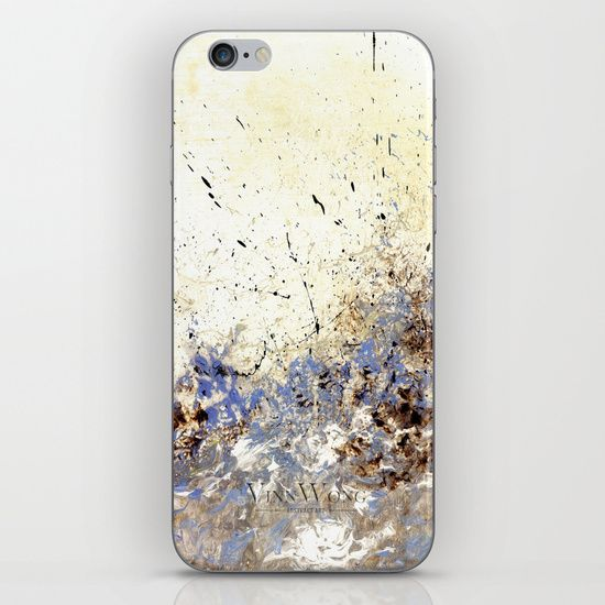 Hydrangea purple floral abstract iPhone and iPod Skins by Vinn Wong | Full collection vinnwong.com | Visit the shop or Pin it For Later!