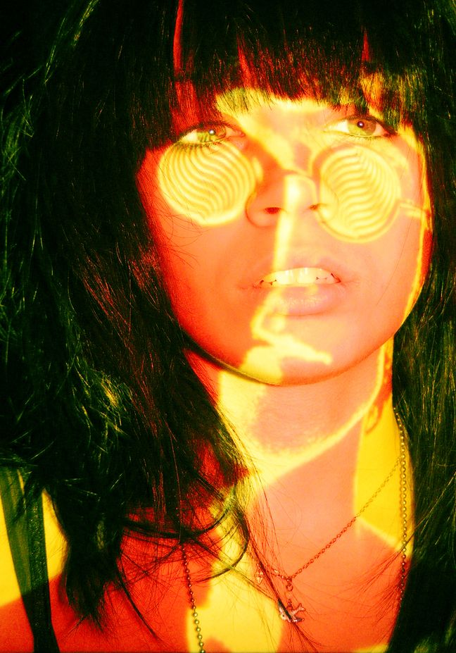Projection portraits using digital photography and a slide projector.