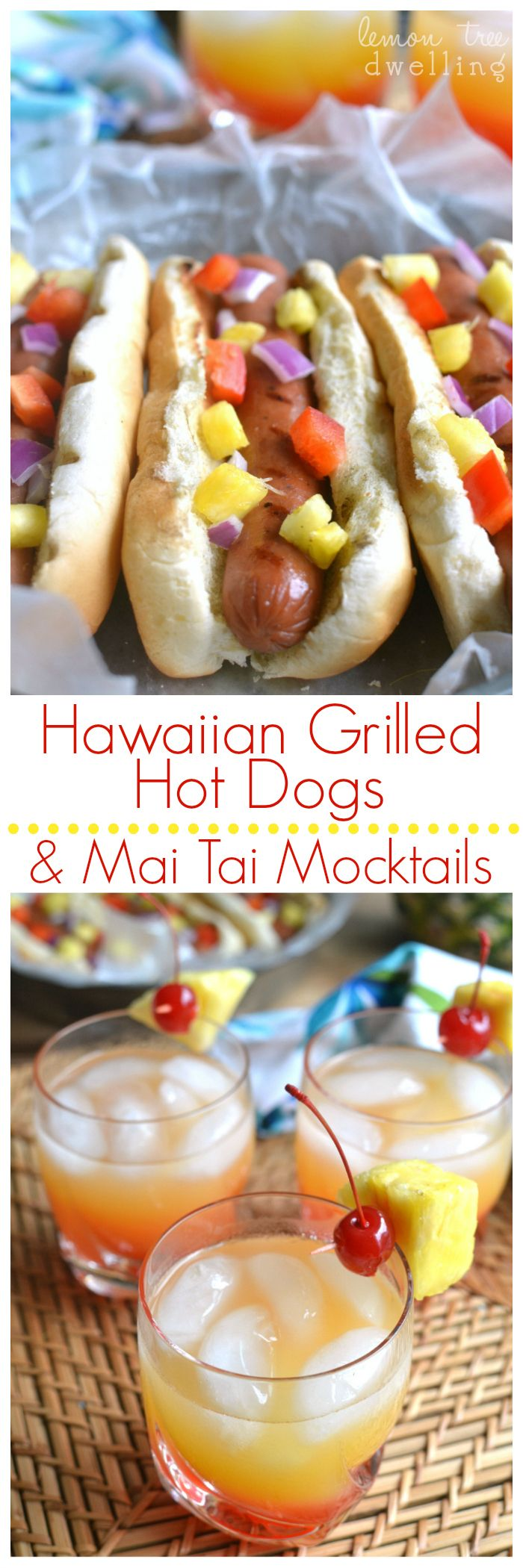 Fun ideas for hosting a Hawaiian Luau & a 4-Ingredient Mai Tai Mocktail recipe! @BallParkBrand #FinestGrillathon #sponsored