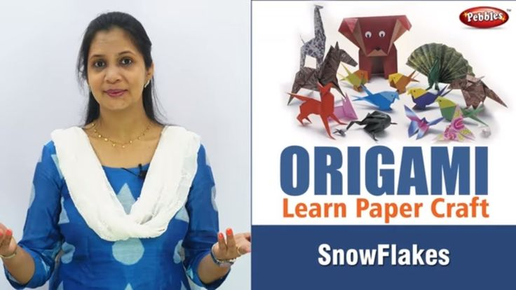 How do you make a Paper Snowflake step by step I Origami Projects I Origami Snowflake I Hindi Video