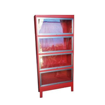 Four Tier Lawyer Bookcase RedTiered Lawyers, Bookcas Red, Lawyers Bookcases, Bookcases Red, Fab Com, Features, Bookcases Twenty, Steel Bookcases, Twenty Gauges