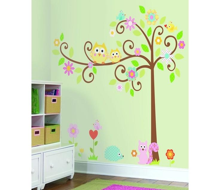 Wallsticker tree with animals