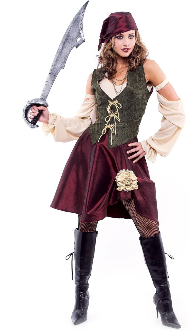 Authentic Pirate Costumes for Women | Adult High Seas Pirate Women Costumes $42.90