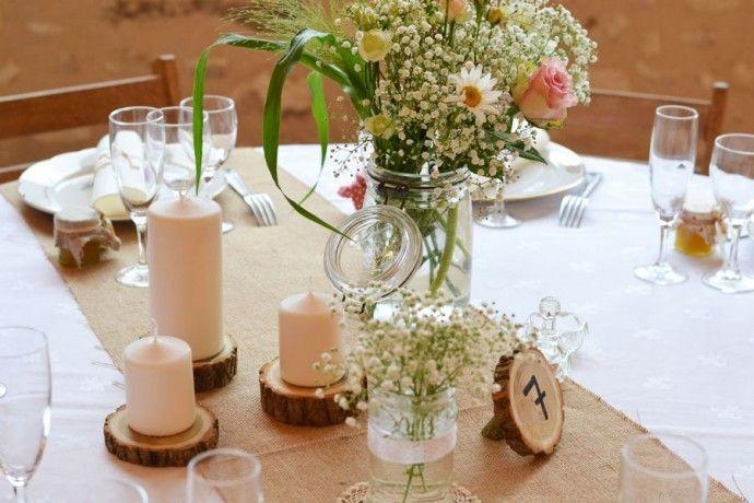 Décoration table  Mariage champêtre Alexa réception Wedding planner  Centre France