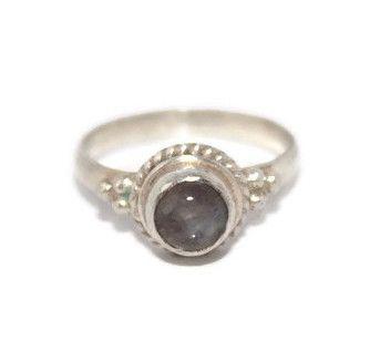 925 Sterling Silver Ring Moonstone Ring Gypsy Ring Boho Ring Tibetan Ring Hippie Ring