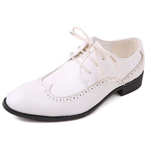 Mens White Dress Shoes - Qi Dress