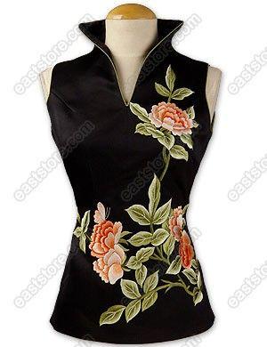 RP: Cheongsam Blouse - Flourishing Peony Embroidered Blouse