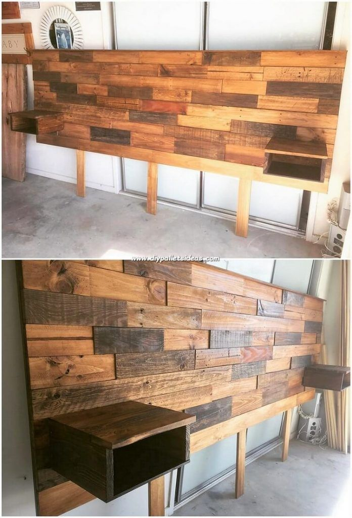 Inconceivable Ideas With Recycled Wood Pallets Diy Pallet Ideas Diy Wood Headboard Bed Headboard Design Diy Bed Headboard