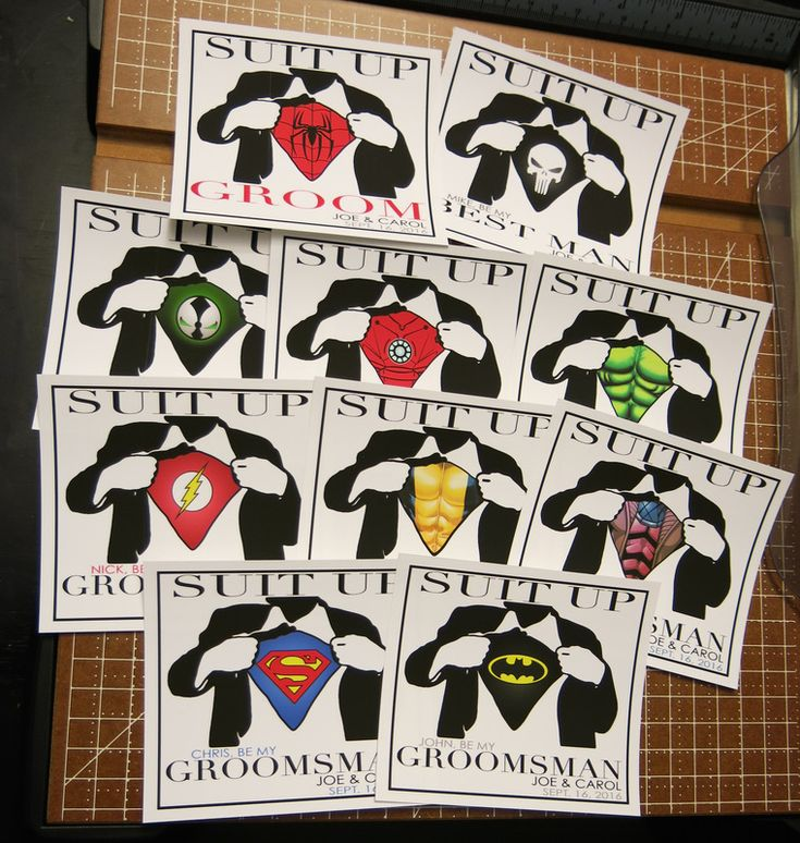 Best Man & Groomsmen Superhero Wine Champagne Bottle Flask Labels - Wedding Invitations Will you be my Request Superman Batman Spider #BGA3 - Superman, Batman, Captain America, Spider-man, The Hulk, Ironman, The Flash, Green Lantern, The Punisher, Wolverine...WHATEVER SUPERHERO YOU WOULD LIKE!!!