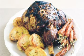 Greek style roast lamb