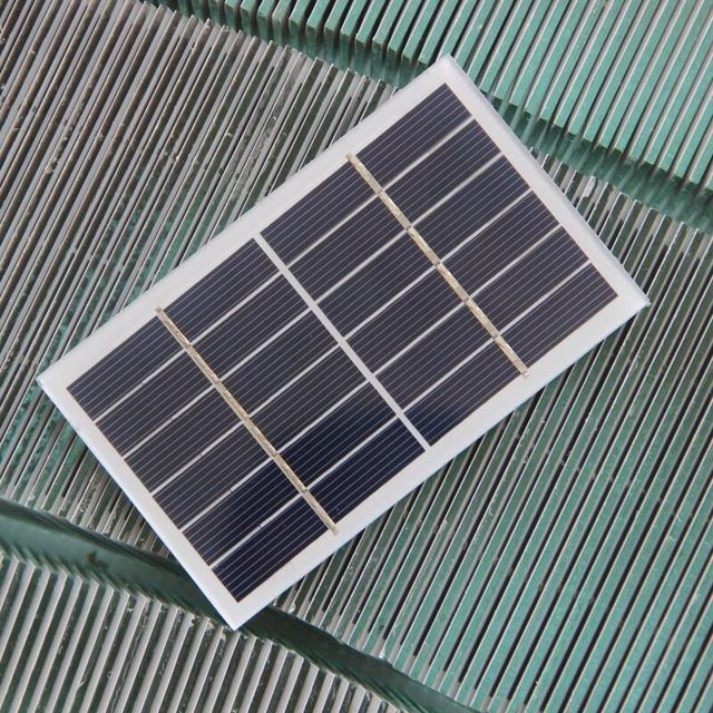 5pcs 1w 6v Solar Cell Module Glass Laminated Polycrystalline Diy Solar Panel Charger For 3 7v Battery 115 70mm Free Ship Solar Panels Solar Panel Charger Solar