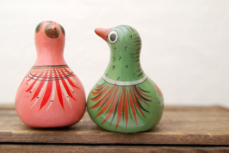 Mexican Folk Art Ceramic Birds