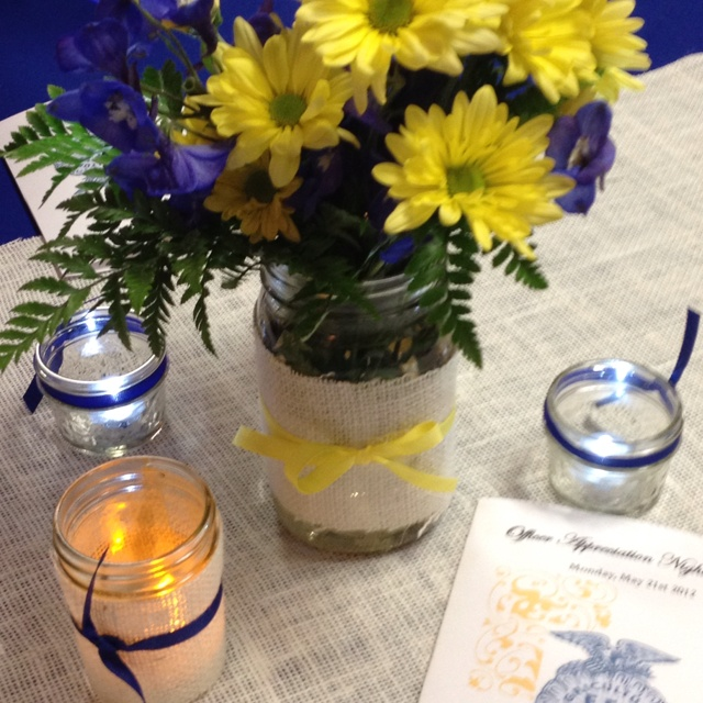 Ffa centerpieces for banquet living to serve pinterest