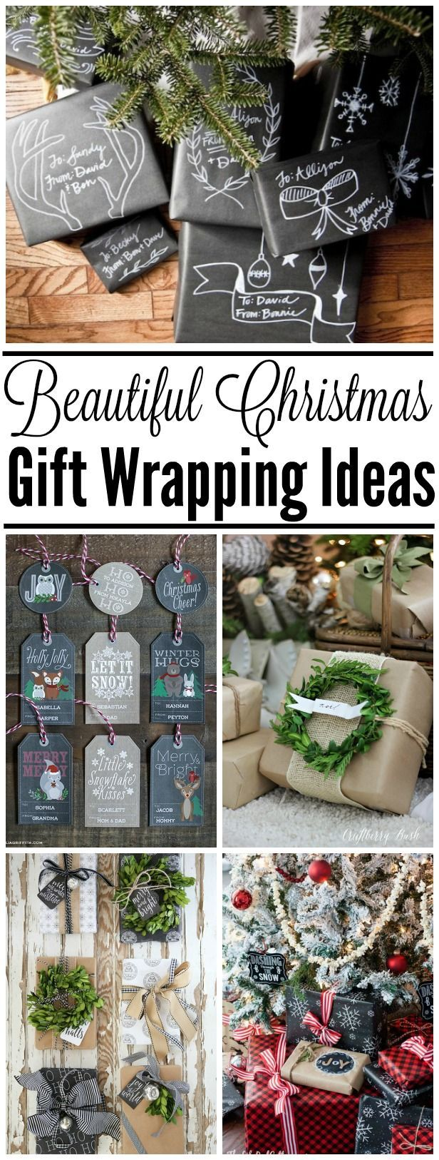 Simple and beautiful ways to dress up your Christmas gifts. Love these Christmas gift wrapping ideas!